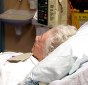 Picture: An older woman in a hospital bed