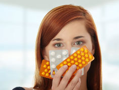 Photo: Women with pills