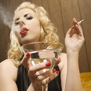 Photo: Smoking and drinking woman