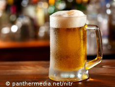 Photo: A cold glass of beer
