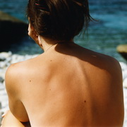 Photo: A woman's back
