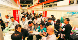 Packed walkways at the MEDICAL FAIR ASIA 2014