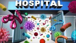 Image: Bacteria are flowing to hospital's entrance; Copyright: Panthermedia.net/lightsource