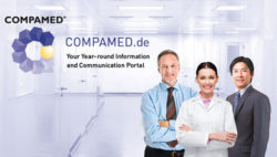 Foto: COMPAMED Logo with three people