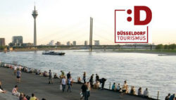 Image: The river Rhine and skyline of Düsseldorf; Copyright:DT