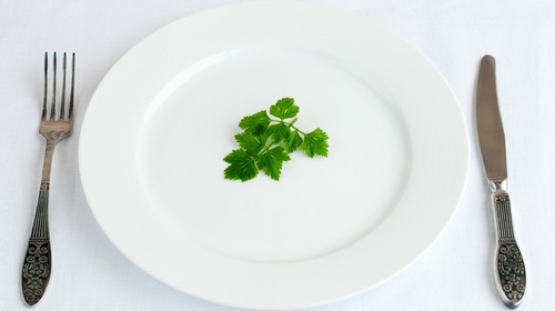 Photo: Plate with parsley