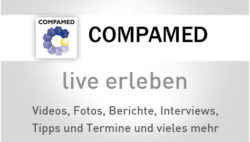 Image: Banner of COMPAMED 2016 live coverage; Copyright: Messe Düsseldorf