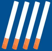 Photo: Four cigarettes in a row