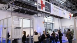 Bild: booth with Logo of the MEDICA TECH FORUM