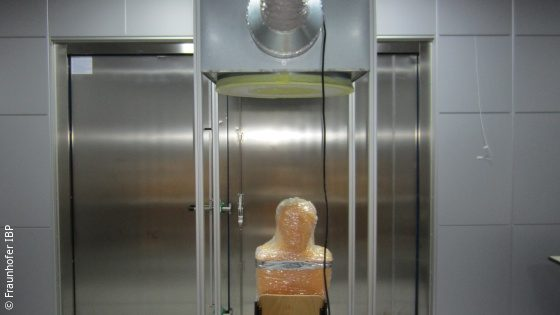 Image: Prototype of the airlock; Copyright: Fraunhofer IBP