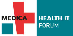 Image: Logo of the MEDICA HEALTH IT FORUM