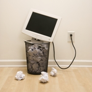 Photo: Computer in a rubbish bin