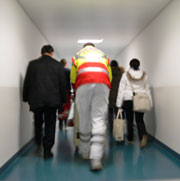 Picture: An emergency doctor in a corridor