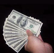 Picture: Dollars in a hand