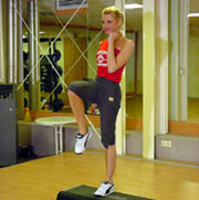 Picture: A woman doing aerobic excercises