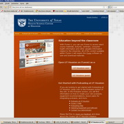 Photo: The website of the University with the log-in