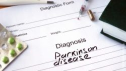 "Image: blank patient files with only the words ""Parkinson's disease"" on it; Copyright: panthermedia.net/VitaliyVodolazskyy"