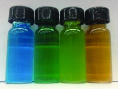 Photo: Vials of coloured nanjuice