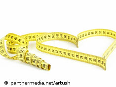 Photo: Measuring tape that forms a heart