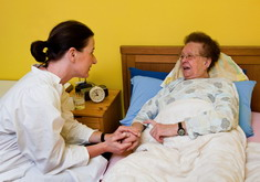 Photo: Caregiver and a patient