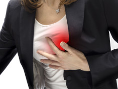 Graphic: Woman pressing her hand on her heart
