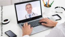 Photo: Physician is videochatting with a patient