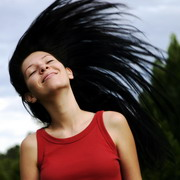 Photo: Woman with long hair