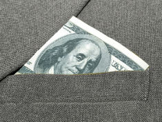 Photo: Dollar in pocket