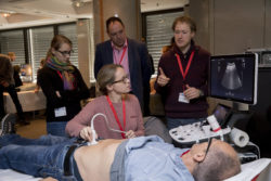 Foto: Participants of the MEDICA ACADEMY sonography course at work