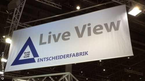 "Photo: Sign with the word ""Live View"" on it"