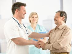 Photo: Doctor an patient shaking hands