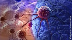 Image: A computer graphic of cancer cells attacking a healthy cell; Copyright: panthermedia.net/vitanovski