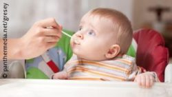 Image: A baby is being fed; Copyright: panthermedia.net/gresey