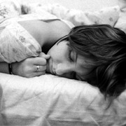 Photo: Sleeping middle-aged woman
