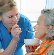 Photo: Nurse and elderly woman