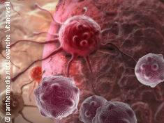 Graphic: cancer cells attacking the body