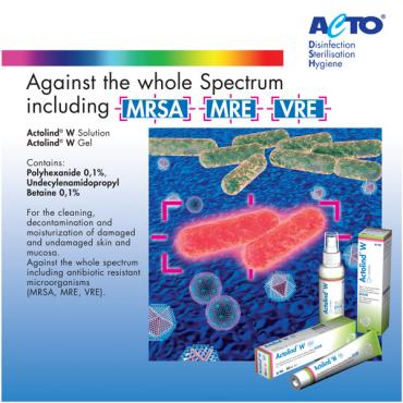 Against the whole Spectrum including antibiotic resistant mi