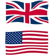 Photo: Flag of the United States and the Union Jack