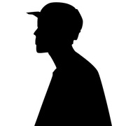 Photo: Silhouette of a young man