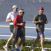 Photo: Three men jogging