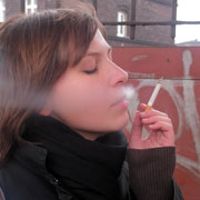 Photo: Young smoking girl