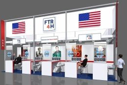 Image: Computer generated image of a trade fair stand