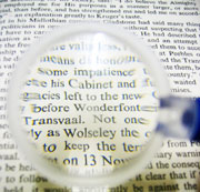Picture: A text with a magnifier
