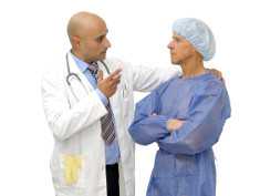 Photo: Doctor and patient