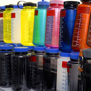 Photo: polycarbonate drinking bottles