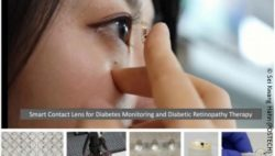 Image: Woman putting contact lenses in her eye; Copyright: Sei Kwang Hahn (POSTECH)