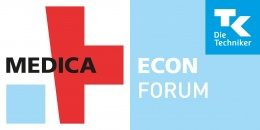 Image: logo of the MEDICA ECON FORUM by TK