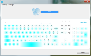 Cleaning Map show when keyboard is clean