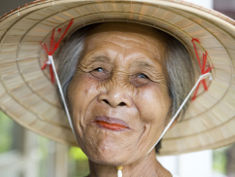 Photo: Old Asian woman smiling