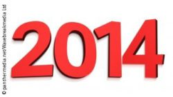 Graphic: Year 2014, written in large red numbers at white ground